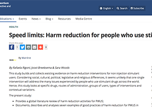 Harm reduction for people who use stimulants