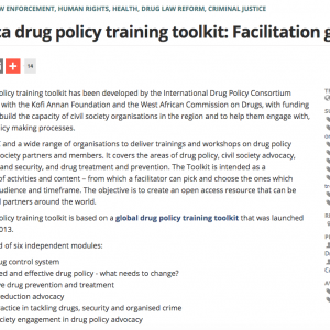 West Africa drug policy toolkit