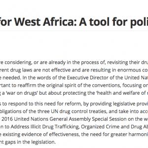 Model West Africa drug law